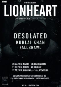 Lionheart  españa 2015