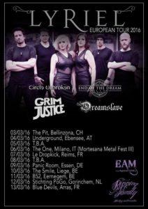 Lyriel tour 2016