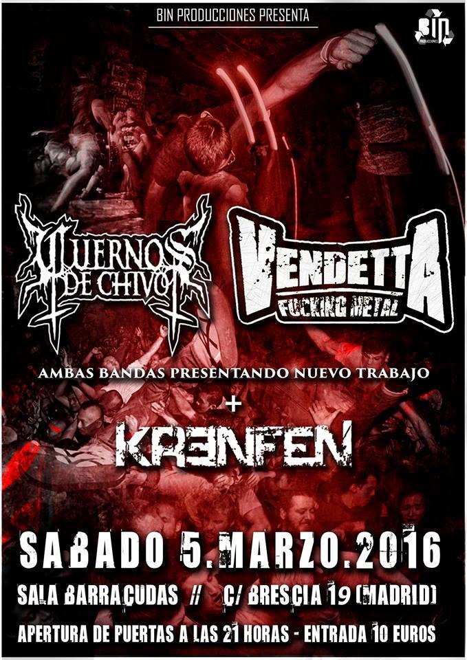 Vendetta FM + Cuernos de Chivo (Madrid)