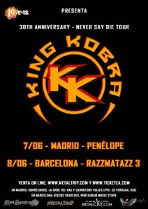 king kobra gira española